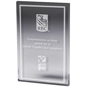 "Clear Rectangle Paper Weight (5""x 7""x 3/8"") Laser Engraved"