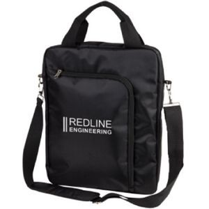 The Vertical Laptop Shoulder Bag - Black