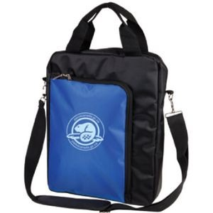 The Vertical Laptop Shoulder Bag - Blue