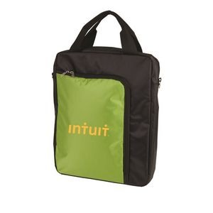The Vertical Laptop Shoulder Bag - Green
